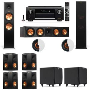 Dolby Atmos 7.2.2 Klipsch RP-280F Tower Speakers SDS12 with Denon AVR-X3200W
