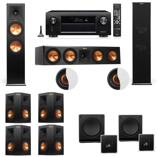 Dolby Atmos 7.2.2 Klipsch RP-280F Tower Speakers SW-112 with Denon AVR-X4100W