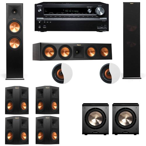 Dolby Atmos 7.2.2 Klipsch RP-280F Tower Speakers-PL-200 with Onkyo TX-NR838