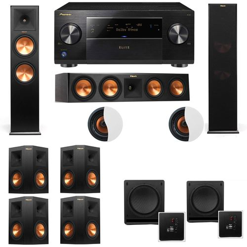 Dolby Atmos 7.2.2 Klipsch RP-280F Tower Speakers SW-112 with Pioneer Elite SC-85