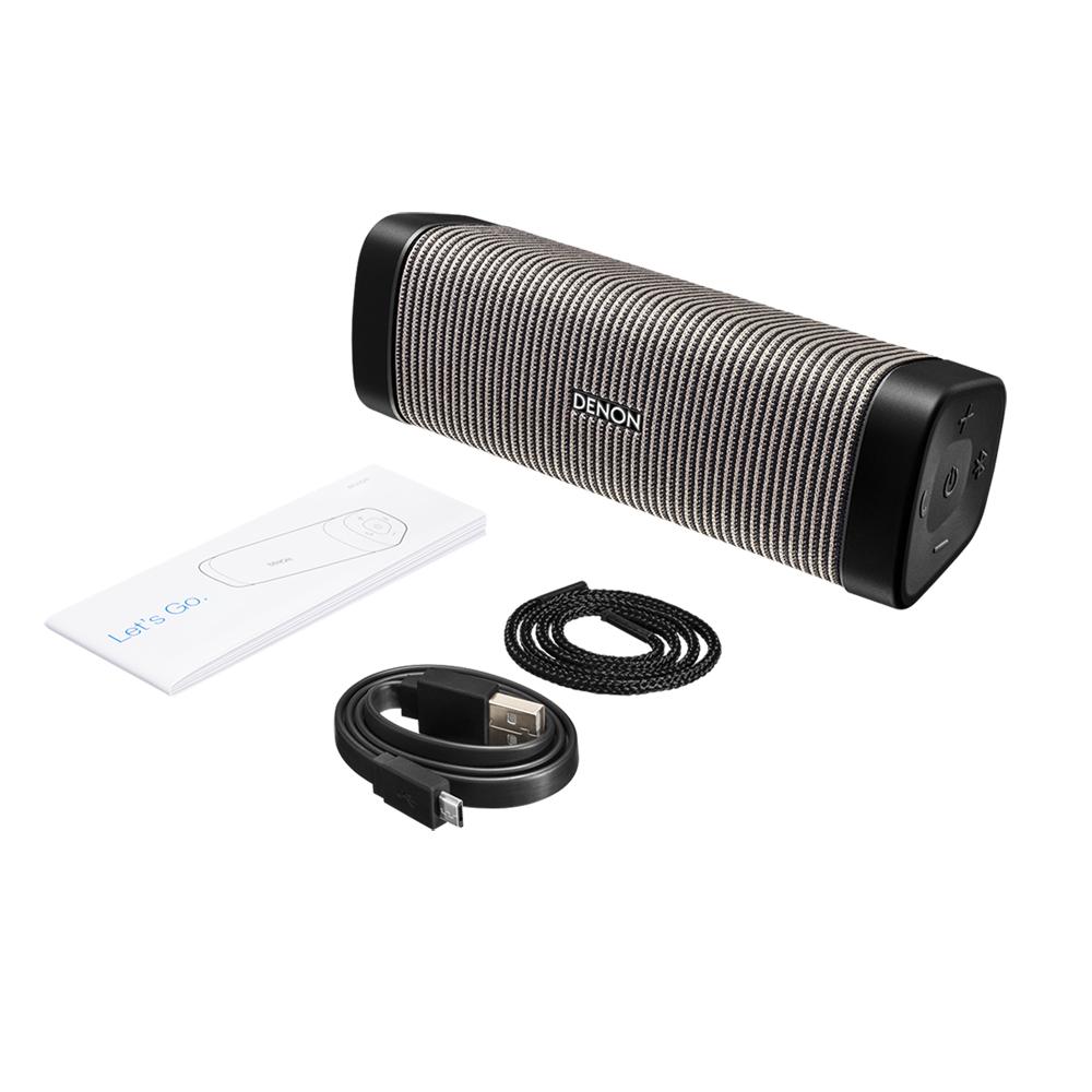Denon DSB50BTBG Black and Gray Envaya Pocket Premium Portable Bluetooth Speaker