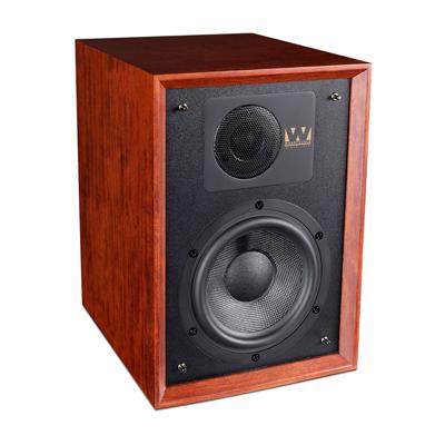 Wharfedale 6.5-inch 2-Way Denton 85th Mahogany Classic Bookshelf Speaker - Pair