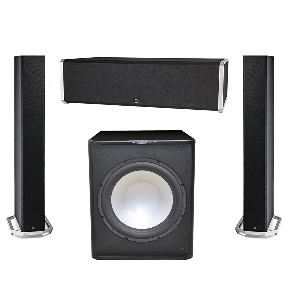 Definitive Technology 3.1 System with 2 BP9060 Tower Speakers, 1 CS9040 Center Channel Speaker, 1 Premier Acoustic PA-150 Subwoofer