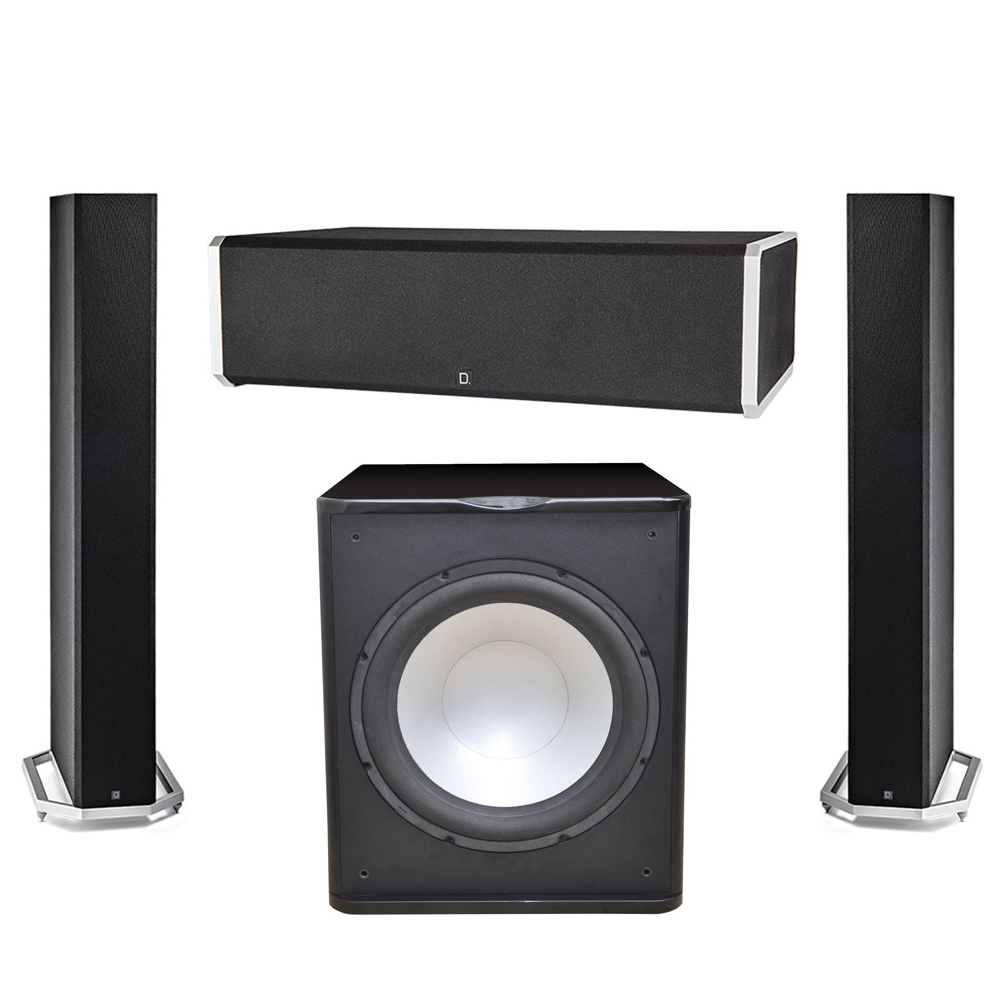 Definitive Technology 3.1 System with 2 BP9060 Tower Speakers, 1 CS9060 Center Channel Speaker, 1 Premier Acoustic PA-150 Subwoofer
