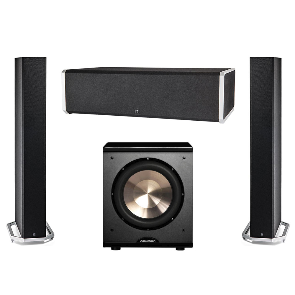 Definitive Technology 3.1 System with 2 BP9060 Tower Speakers, 1 CS9060 Center Channel Speaker, 1 BIC PL-200 Subwoofer