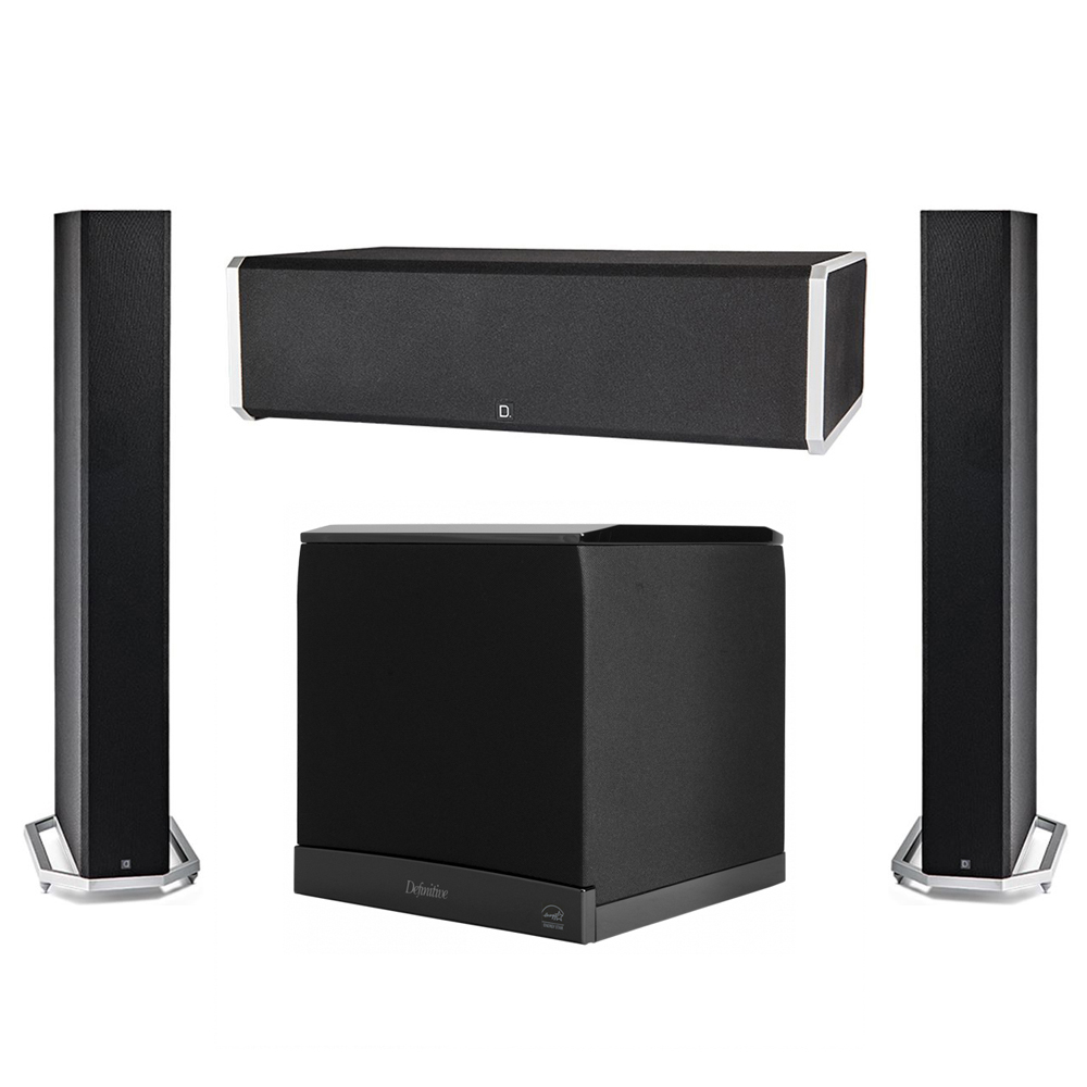 Definitive Technology 3.1 System with 2 BP9060 Tower Speakers, 1 CS9060 Center Channel Speaker, 1 Definitive Technology SuperCube 6000 Powered Subwoofer