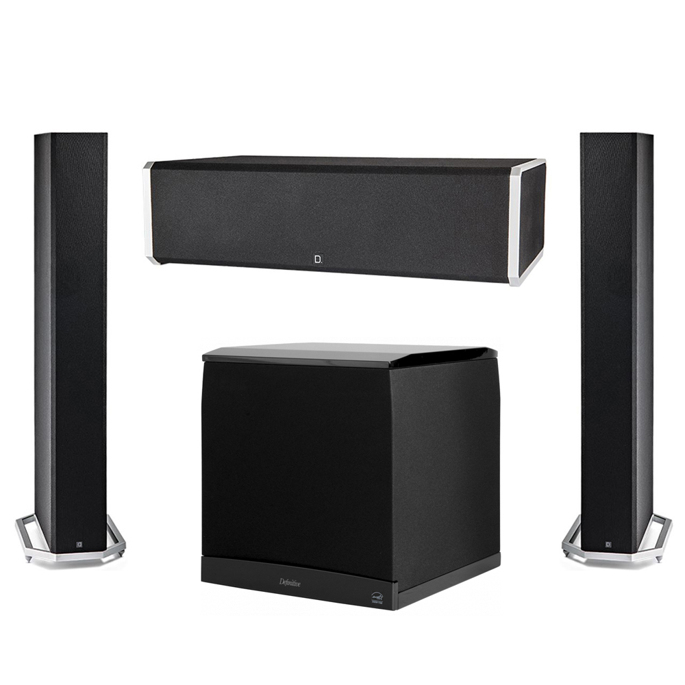Definitive Technology 3.1 System with 2 BP9060 Tower Speakers, 1 CS9060 Center Channel Speaker, 1 Definitive Technology SuperCube 8000 Powered Subwoofer
