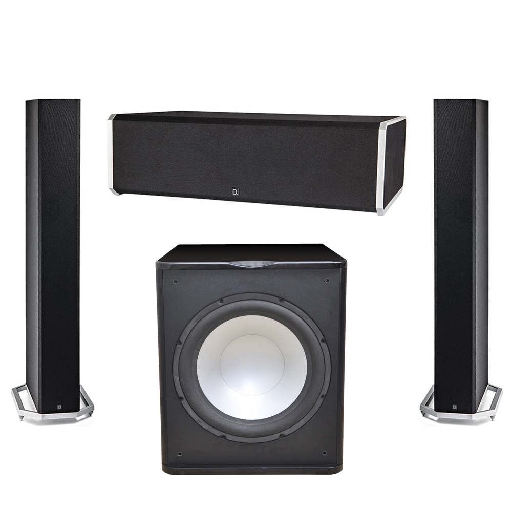 Definitive Technology 3.1 System with 2 BP9060 Tower Speakers, 1 CS9080 Center Channel Speaker, 1 Premier Acoustic PA-150 Subwoofer