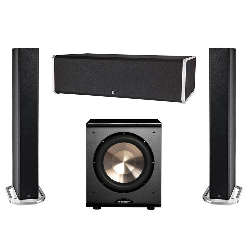 Definitive Technology 3.1 System with 2 BP9060 Tower Speakers, 1 CS9080 Center Channel Speaker, 1 BIC PL-200 Subwoofer