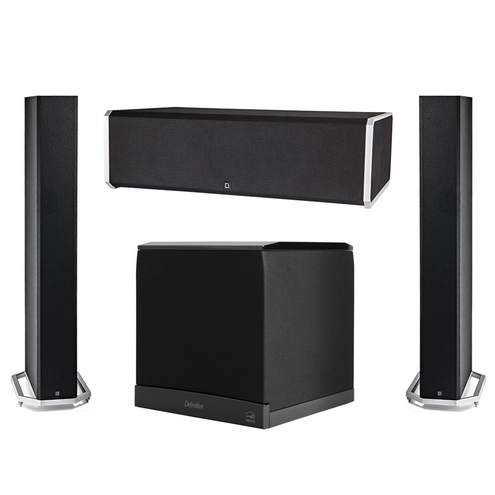 Definitive Technology 3.1 System with 2 BP9060 Tower Speakers, 1 CS9080 Center Channel Speaker, 1 Definitive Technology SuperCube 6000 Powered Subwoofer