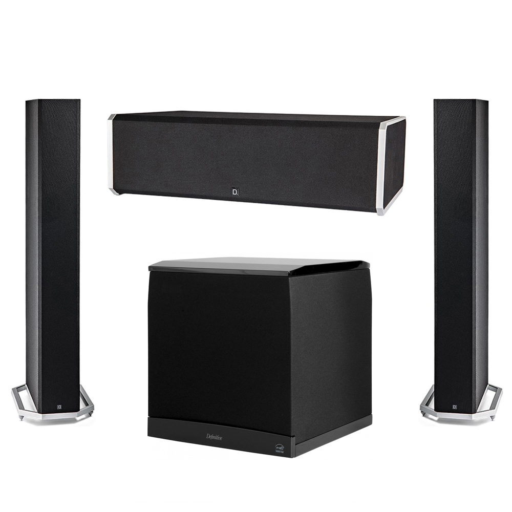 Definitive Technology 3.1 System with 2 BP9060 Tower Speakers, 1 CS9080 Center Channel Speaker, 1 Definitive Technology SuperCube 8000 Powered Subwoofer