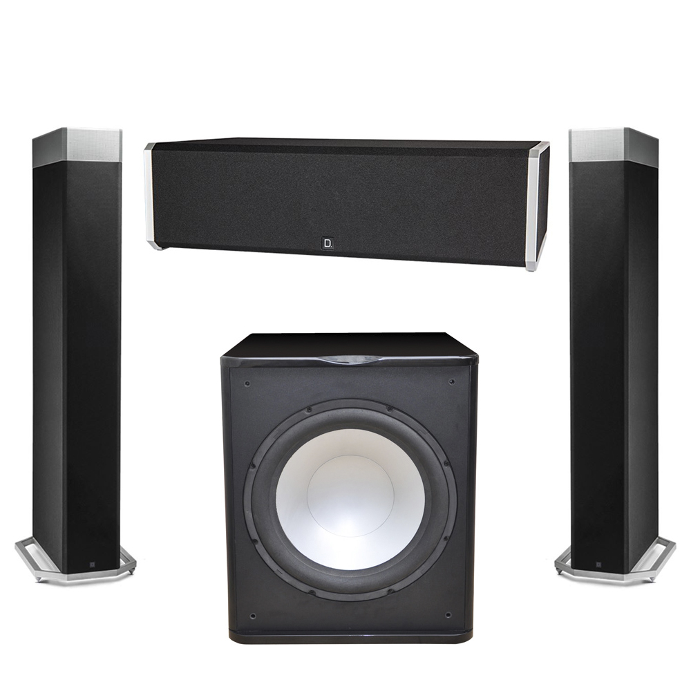 Definitive Technology 3.1 System with 2 BP9080X Tower Speakers, 1 CS9040 Center Channel Speaker, 1 Premier Acoustic PA-150 Subwoofer