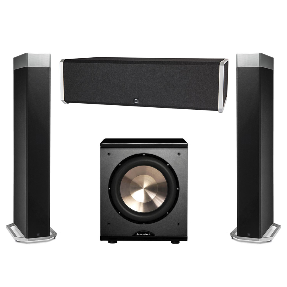 Definitive Technology 3.1 System with 2 BP9080X Tower Speakers, 1 CS9040 Center Channel Speaker, 1 BIC PL-200 Subwoofer