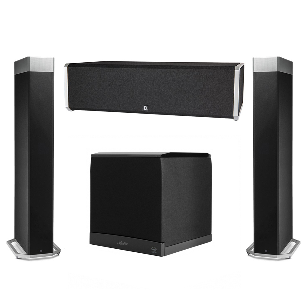 Definitive Technology 3.1 System with 2 BP9080X Tower Speakers, 1 CS9040 Center Channel Speaker, 1 Definitive Technology SuperCube 6000 Powered Subwoofer