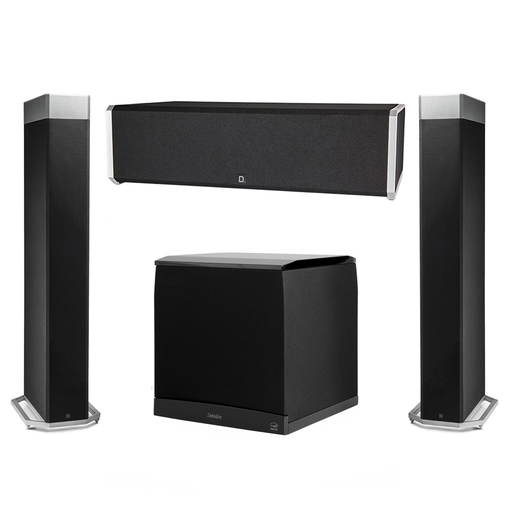 Definitive Technology 3.1 System with 2 BP9080X Tower Speakers, 1 CS9040 Center Channel Speaker, 1 Definitive Technology SuperCube 8000 Powered Subwoofer