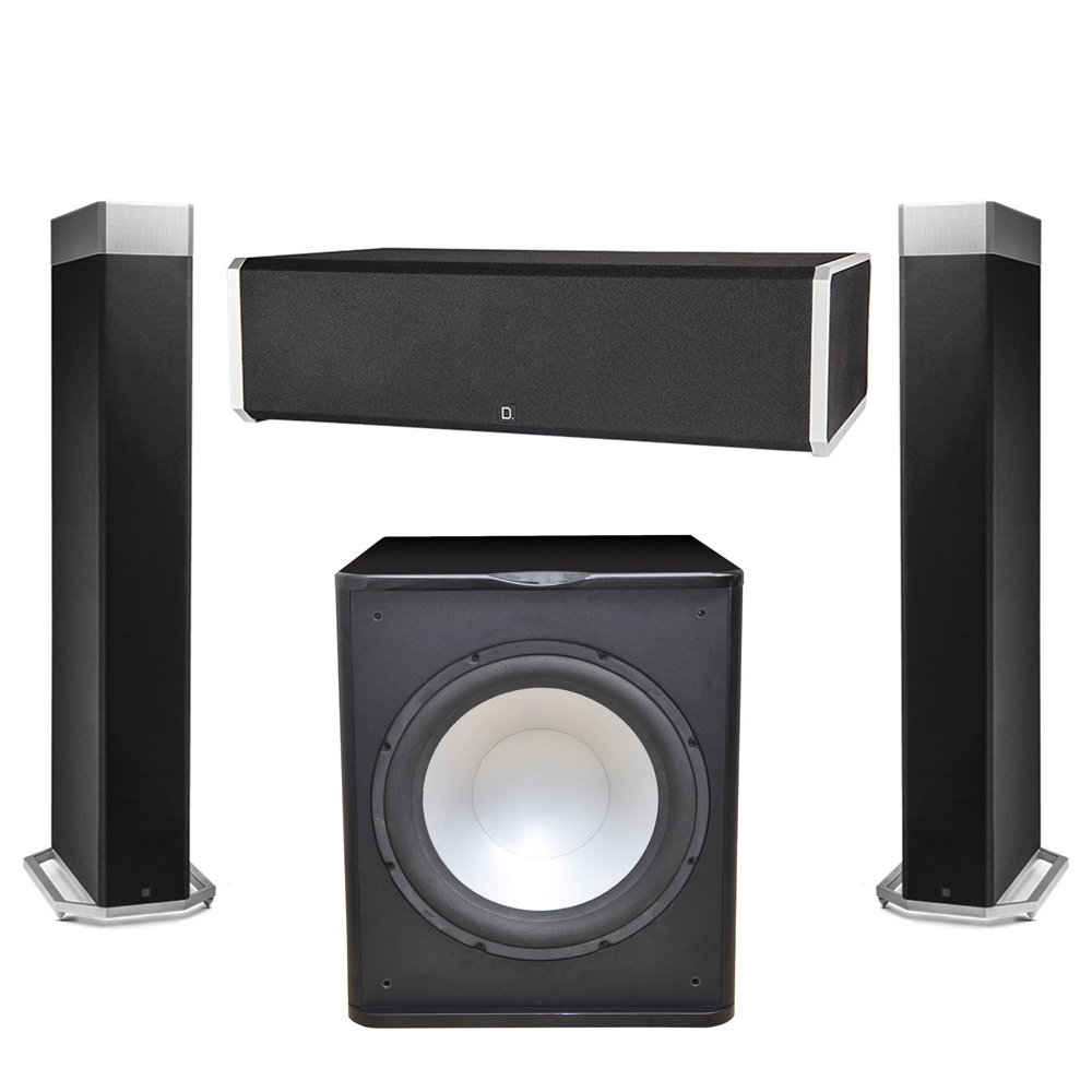 Definitive Technology 3.1 System with 2 BP9080X Tower Speakers, 1 CS9060 Center Channel Speaker, 1 Premier Acoustic PA-150 Subwoofer