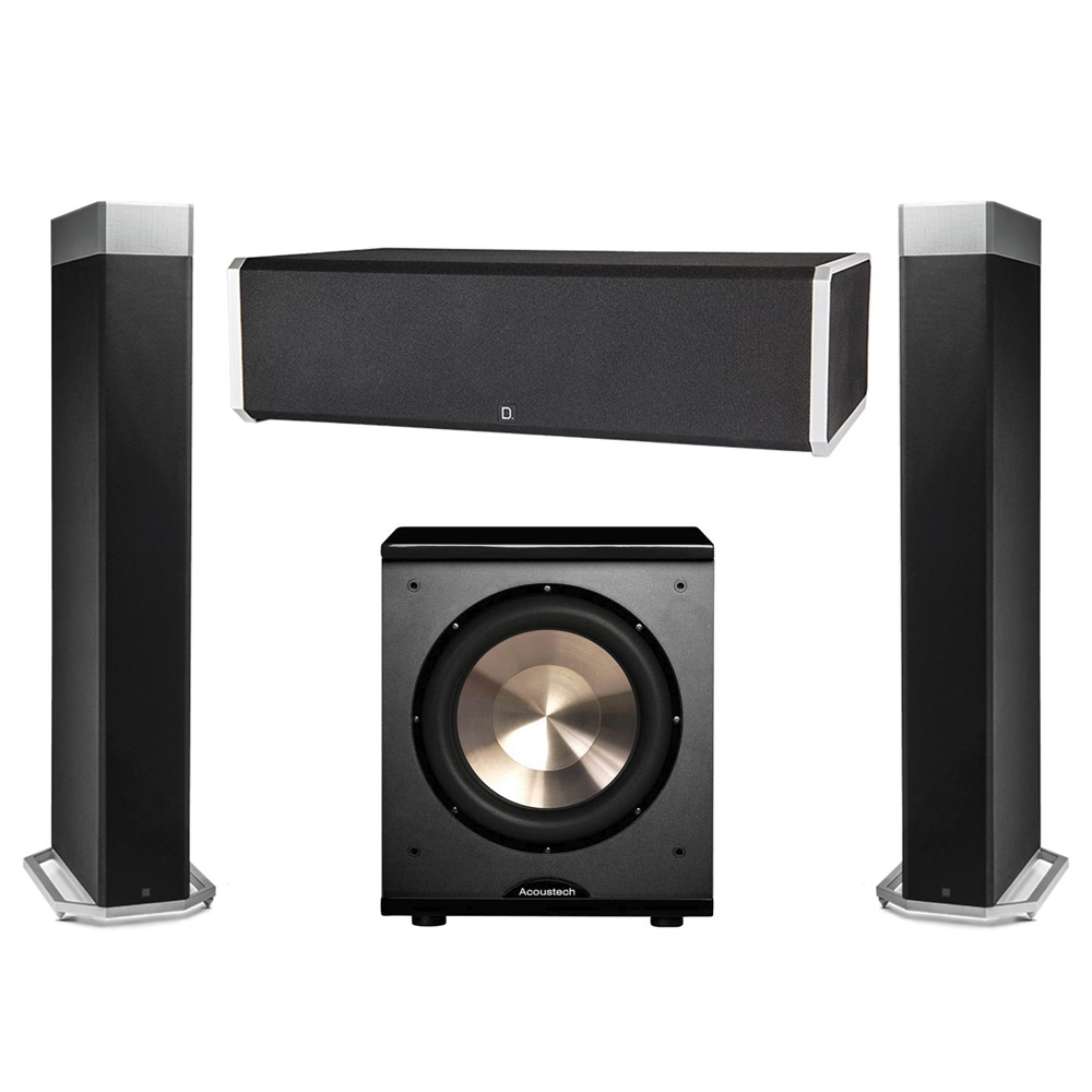 Definitive Technology 3.1 System with 2 BP9080X Tower Speakers, 1 CS9060 Center Channel Speaker, 1 BIC PL-200 Subwoofer