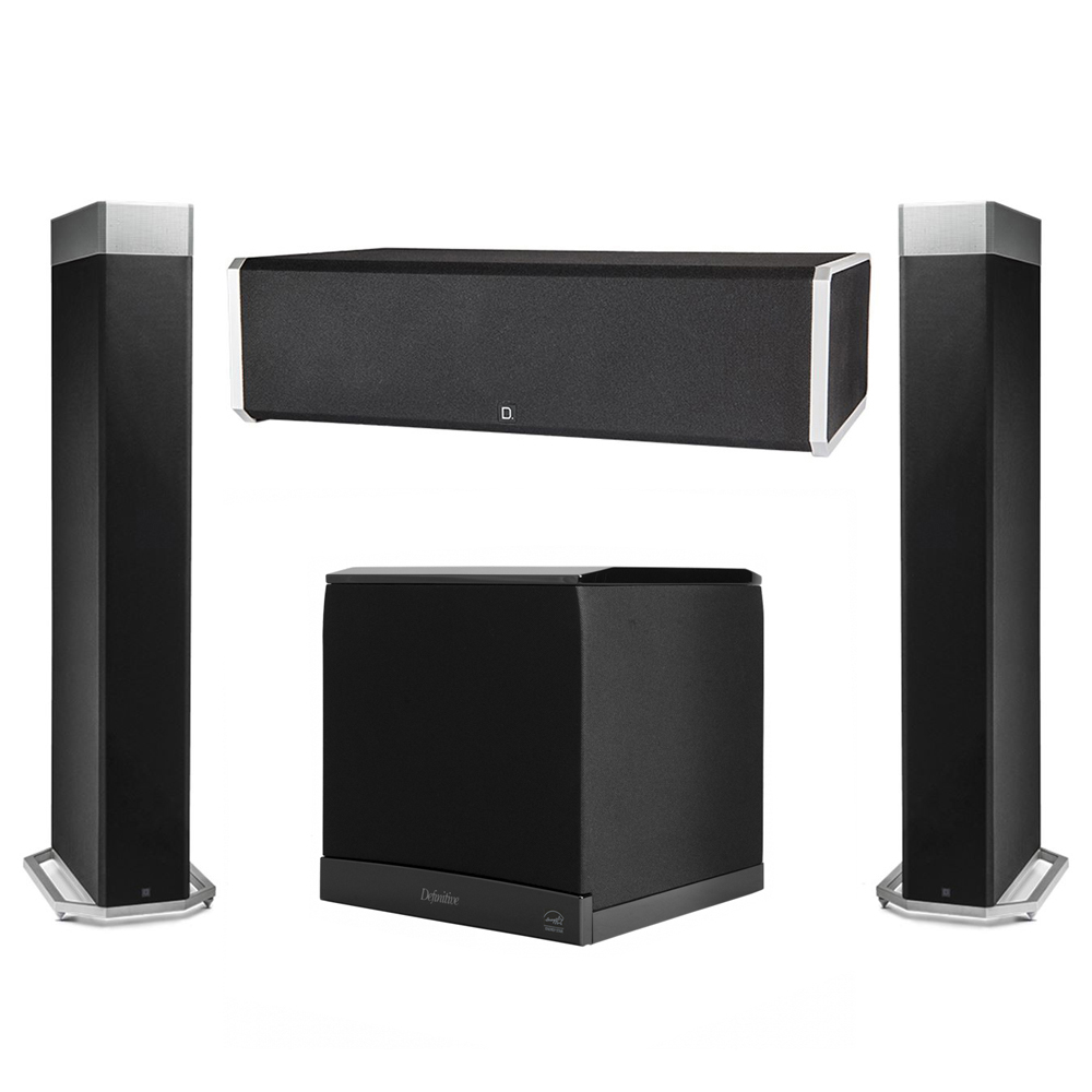 Definitive Technology 3.1 System with 2 BP9080X Tower Speakers, 1 CS9060 Center Channel Speaker, 1 Definitive Technology SuperCube 6000 Powered Subwoofer