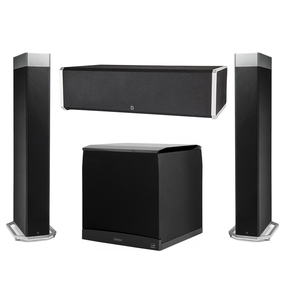 Definitive Technology 3.1 System with 2 BP9080X Tower Speakers, 1 CS9060 Center Channel Speaker, 1 Definitive Technology SuperCube 8000 Powered Subwoofer
