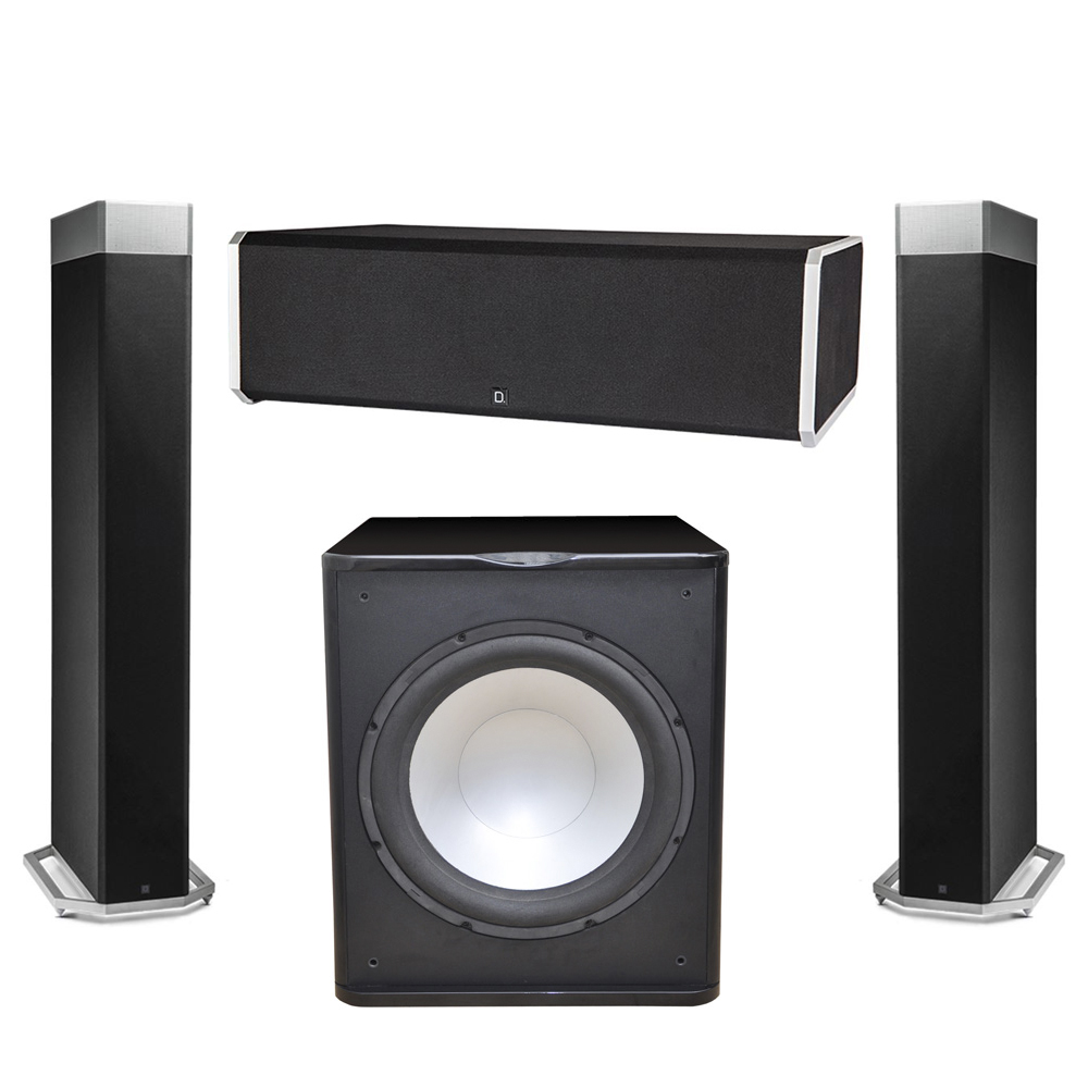 Definitive Technology 3.1 System with 2 BP9080X Tower Speakers, 1 CS9080 Center Channel Speaker, 1 Premier Acoustic PA-150 Subwoofer