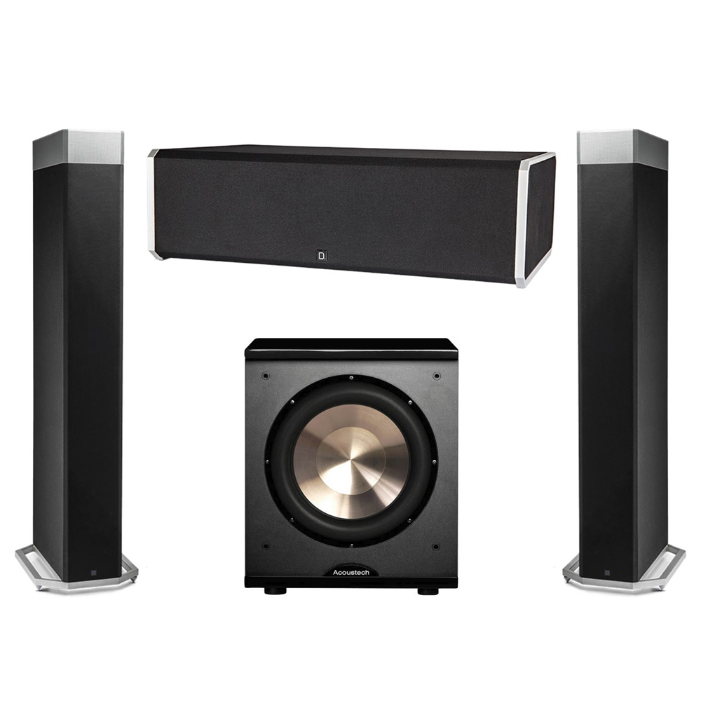 Definitive Technology 3.1 System with 2 BP9080X Tower Speakers, 1 CS9080 Center Channel Speaker, 1 BIC PL-200 Subwoofer