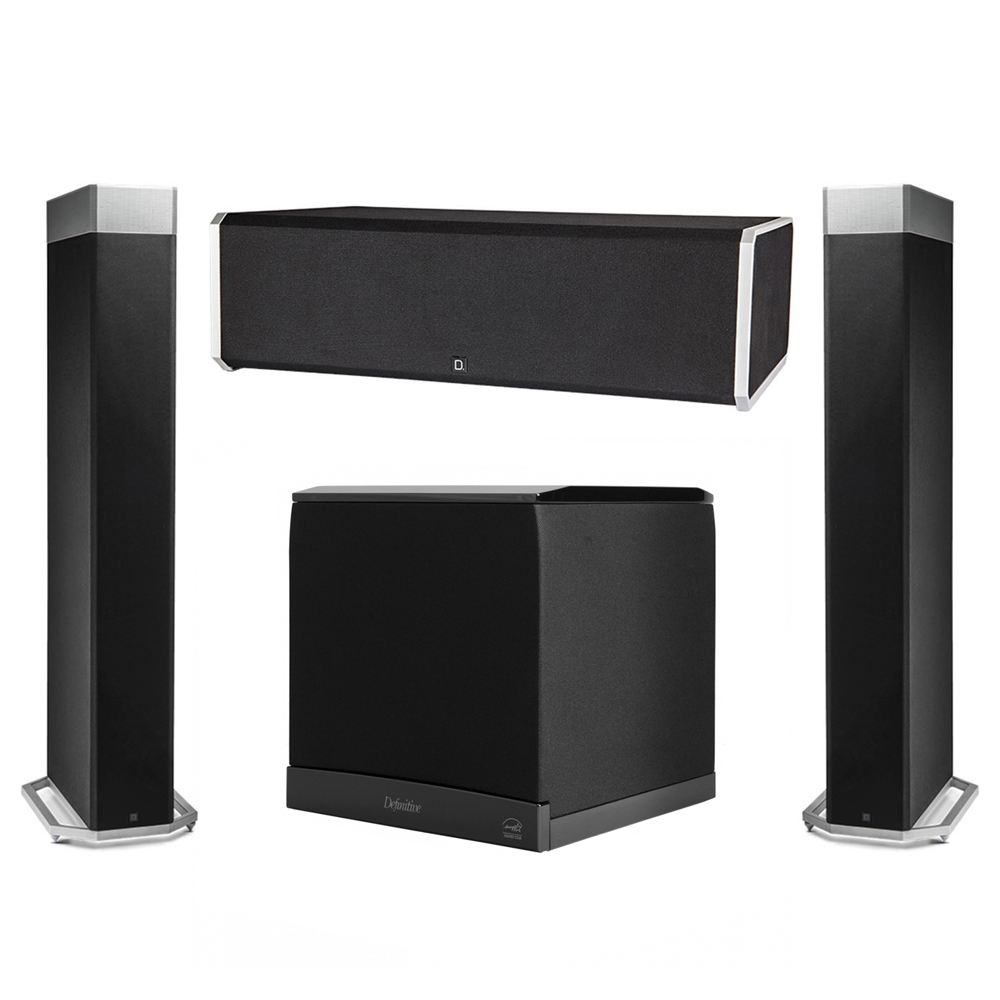 Definitive Technology 3.1 System with 2 BP9080X Tower Speakers, 1 CS9080 Center Channel Speaker, 1 Definitive Technology SuperCube 6000 Powered Subwoofer