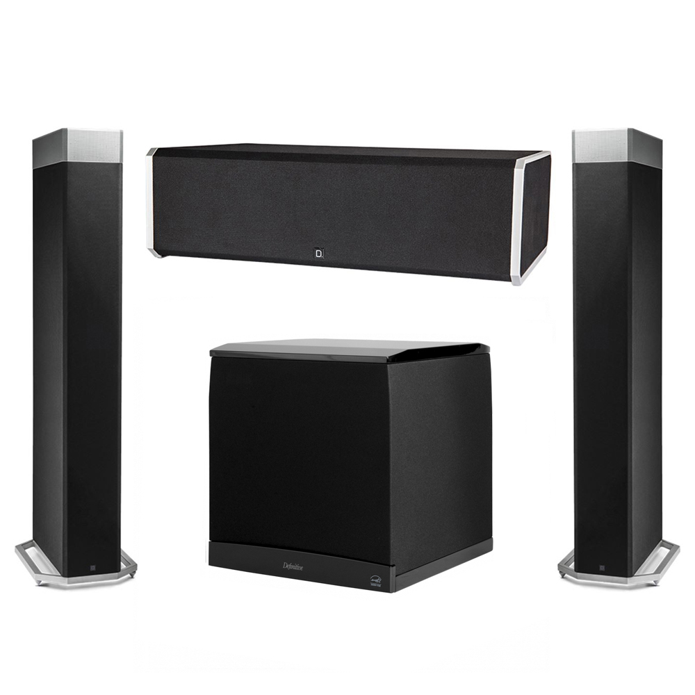 Definitive Technology 3.1 System with 2 BP9080X Tower Speakers, 1 CS9080 Center Channel Speaker, 1 Definitive Technology SuperCube 8000 Powered Subwoofer