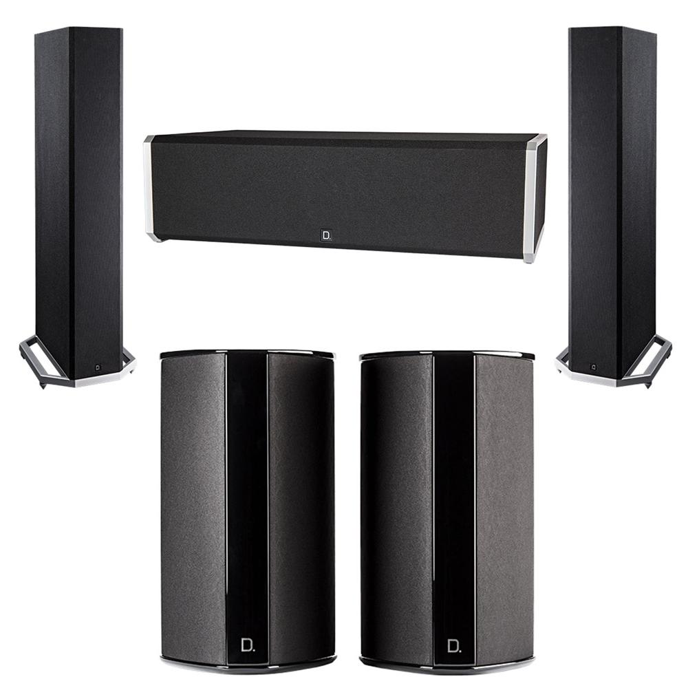 Definitive Technology 5.0 System with 2 BP9020 Tower Speakers, 1 CS9040 Center Channel Speaker, 2 SR9080 Surround Speaker