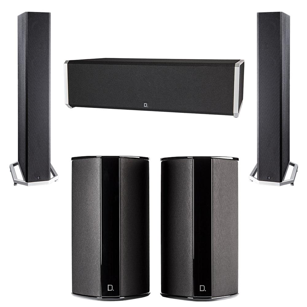 Definitive Technology 5.0 System with 2 BP9040 Tower Speakers, 1 CS9040 Center Channel Speaker, 2 SR9080 Surround Speaker
