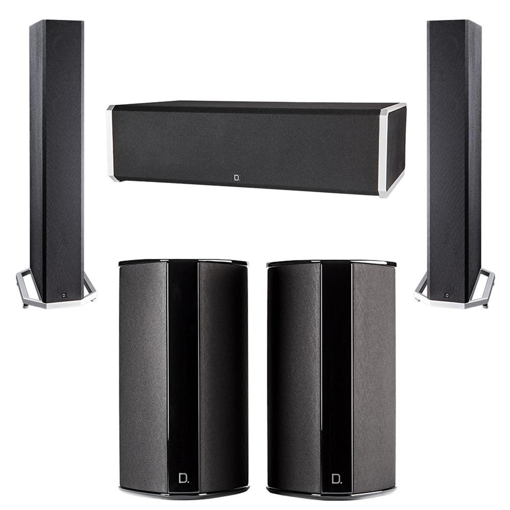 Definitive Technology 5.0 System with 2 BP9040 Tower Speakers, 1 CS9060 Center Channel Speaker, 2 SR9080 Surround Speaker