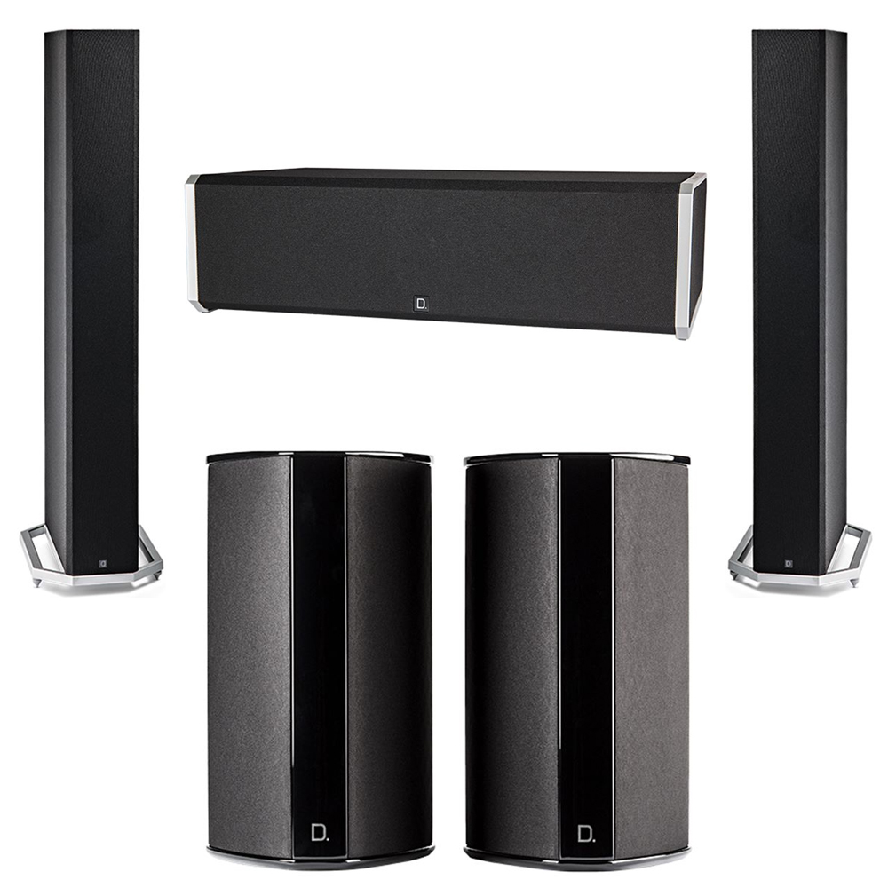 Definitive Technology 5.0 System with 2 BP9060 Tower Speakers, 1 CS9040 Center Channel Speaker, 2 SR9080 Surround Speaker