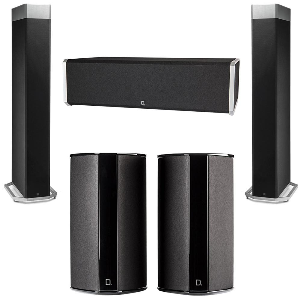 Definitive Technology 5.0 System with 2 BP9080X Tower Speakers, 1 CS9040 Center Channel Speaker, 2 SR9080 Surround Speaker