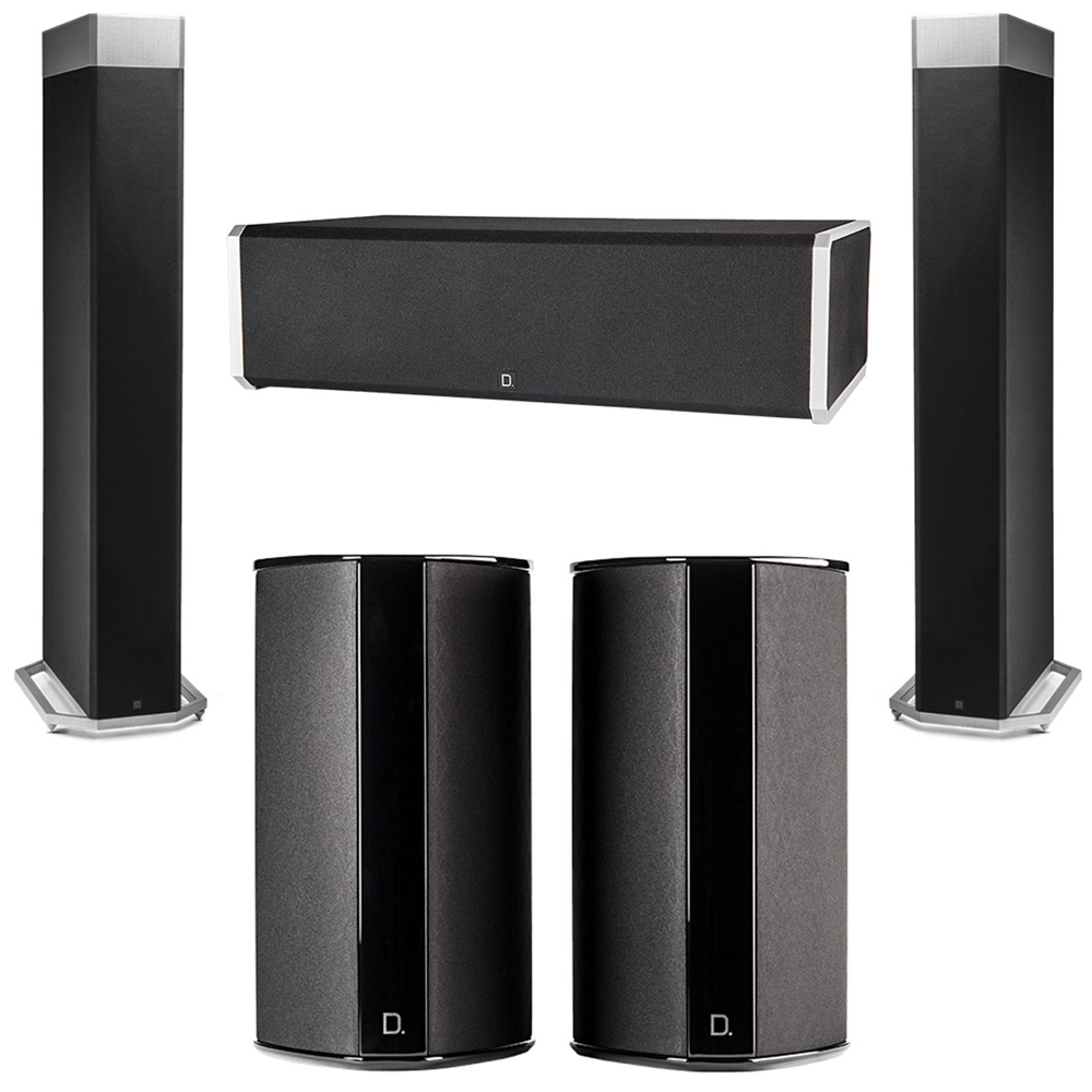 Definitive Technology 5.0 System with 2 BP9080X Tower Speakers, 1 CS9060 Center Channel Speaker, 2 SR9080 Surround Speaker