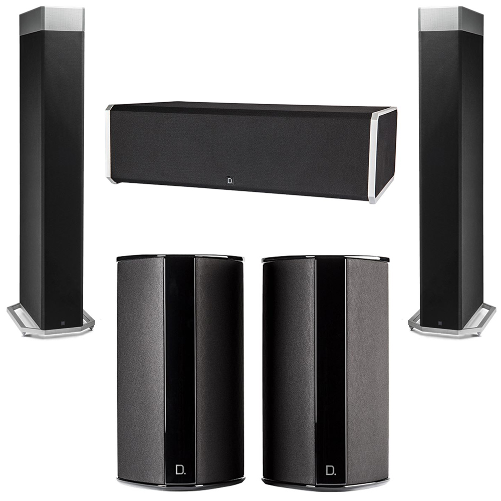 Definitive Technology 5.0 System with 2 BP9080X Tower Speakers, 1 CS9080 Center Channel Speaker, 2 SR9080 Surround Speaker