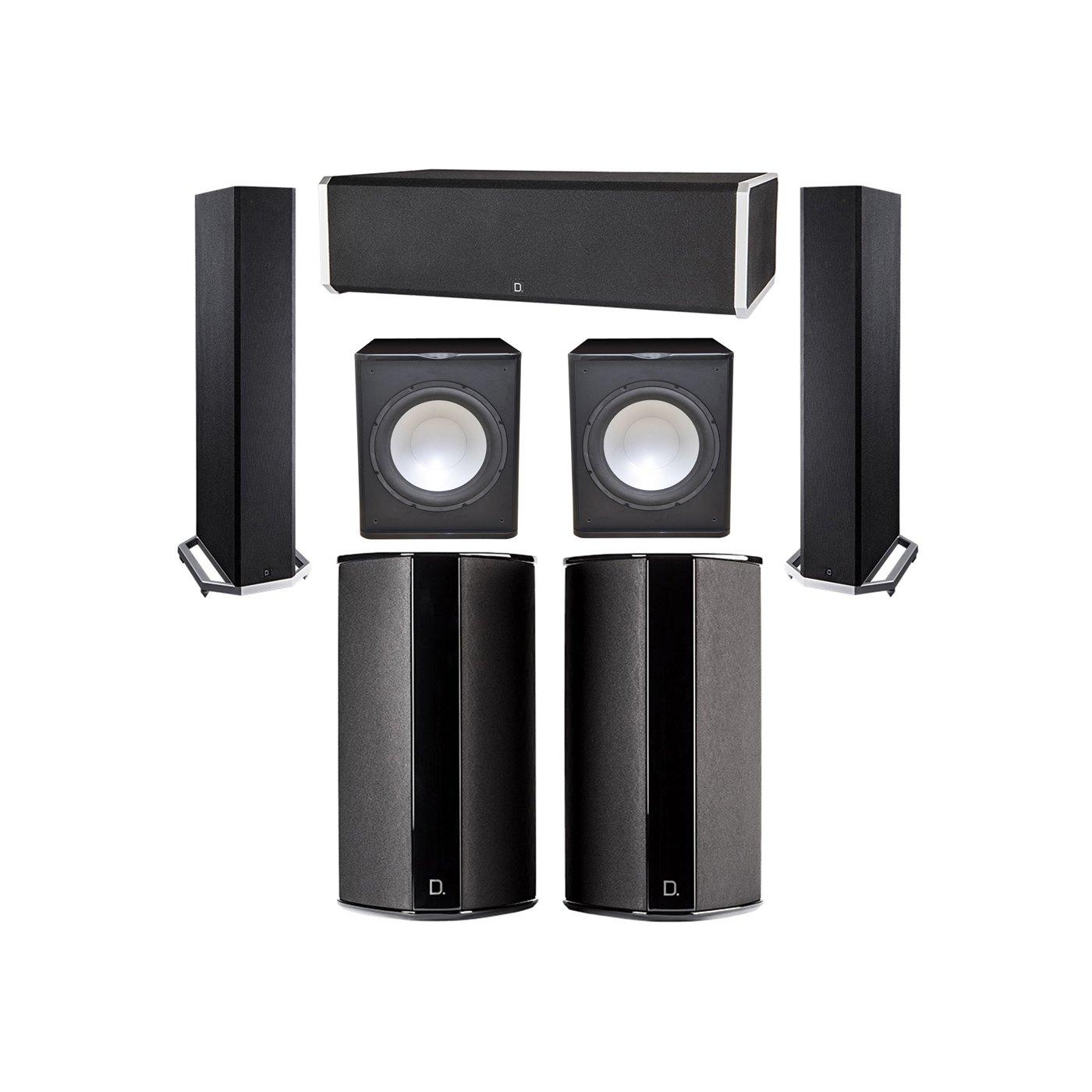 Definitive Technology 5.2 System with 2 BP9020 Tower Speakers, 1 CS9060 Center Channel Speaker, 2 SR9080 Surround Speaker, 2 Premier Acoustic PA-150 Subwoofer