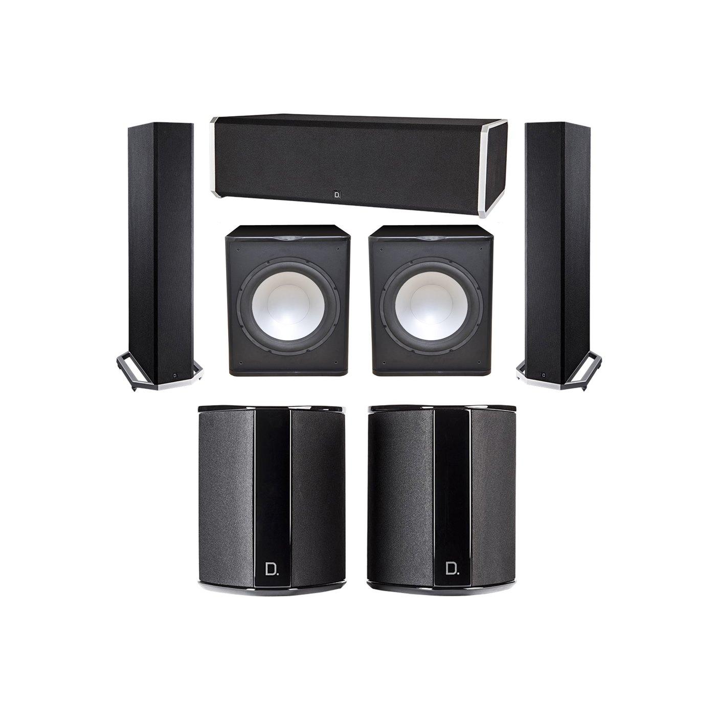 Definitive Technology 5.2 System with 2 BP9020 Tower Speakers, 1 CS9080 Center Channel Speaker, 2 SR9040 Surround Speaker, 2 Premier Acoustic PA-150 Subwoofer