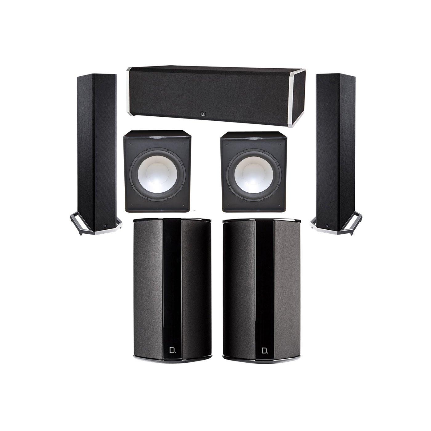 Definitive Technology 5.2 System with 2 BP9020 Tower Speakers, 1 CS9080 Center Channel Speaker, 2 SR9080 Surround Speaker, 2 Premier Acoustic PA-150 Subwoofer