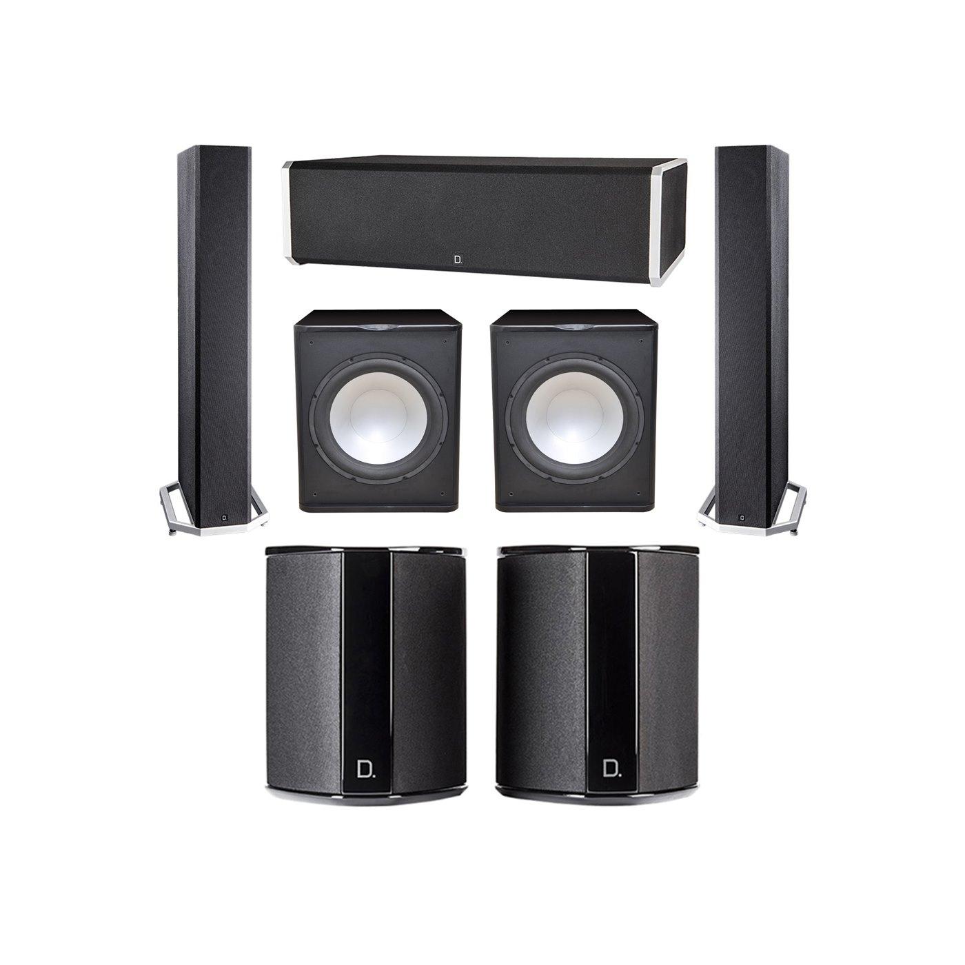 Definitive Technology 5.2 System with 2 BP9040 Tower Speakers, 1 CS9060 Center Channel Speaker, 2 SR9040 Surround Speaker, 2 Premier Acoustic PA-150 Subwoofer