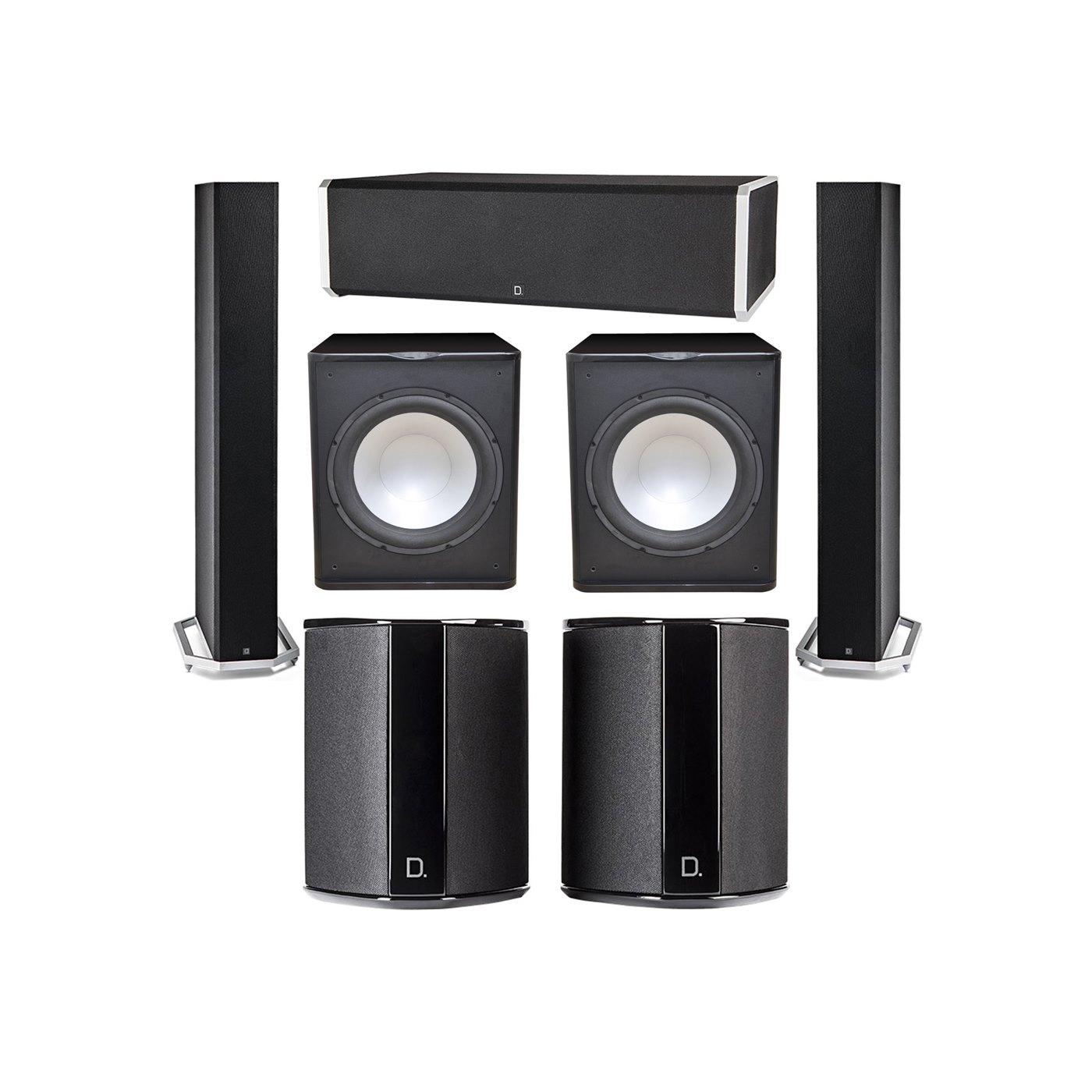 Definitive Technology 5.2 System with 2 BP9060 Tower Speakers, 1 CS9060 Center Channel Speaker, 2 SR9040 Surround Speaker, 2 Premier Acoustic PA-150 Subwoofer