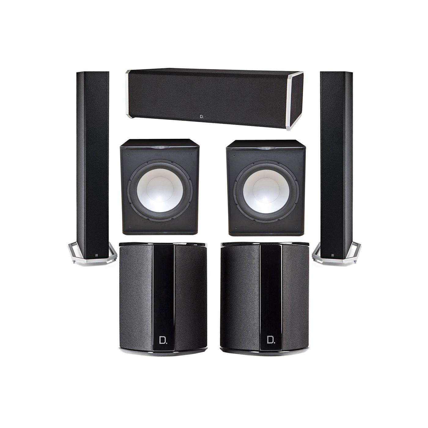 Definitive Technology 5.2 System with 2 BP9060 Tower Speakers, 1 CS9080 Center Channel Speaker, 2 SR9040 Surround Speaker, 2 Premier Acoustic PA-150 Subwoofer