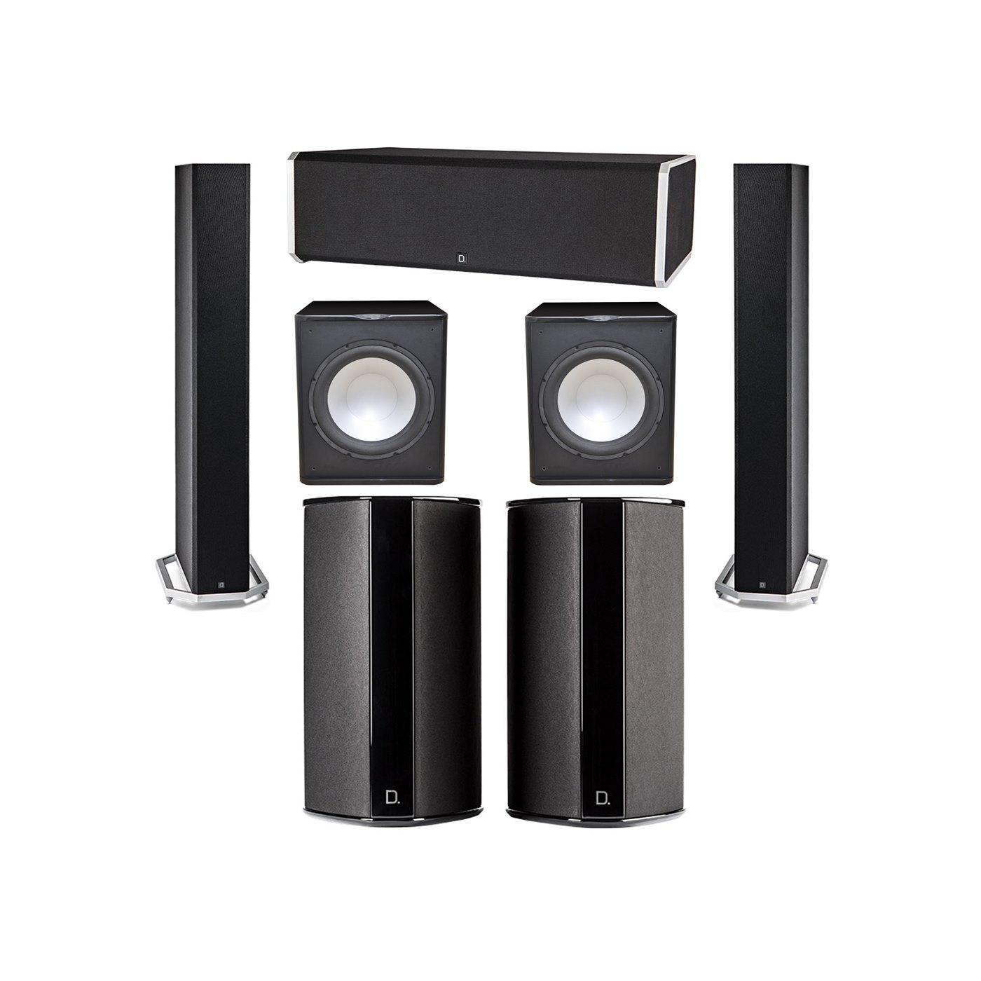 Definitive Technology 5.2 System with 2 BP9060 Tower Speakers, 1 CS9080 Center Channel Speaker, 2 SR9080 Surround Speaker, 2 Premier Acoustic PA-150 Subwoofer