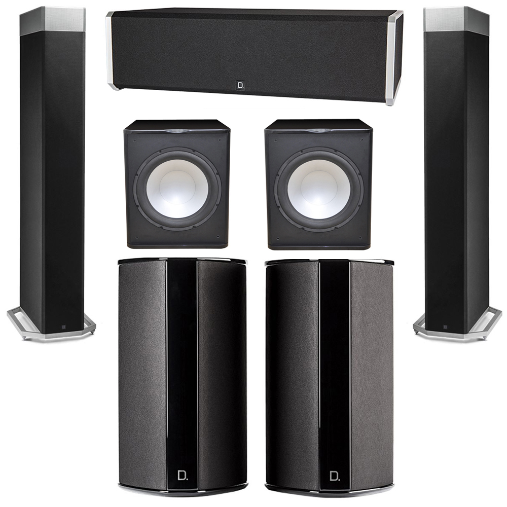 Definitive Technology 5.2 System with 2 BP9080X Tower Speakers, 1 CS9040 Center Channel Speaker, 2 SR9080 Surround Speaker, 2 Premier Acoustic PA-150 Subwoofer