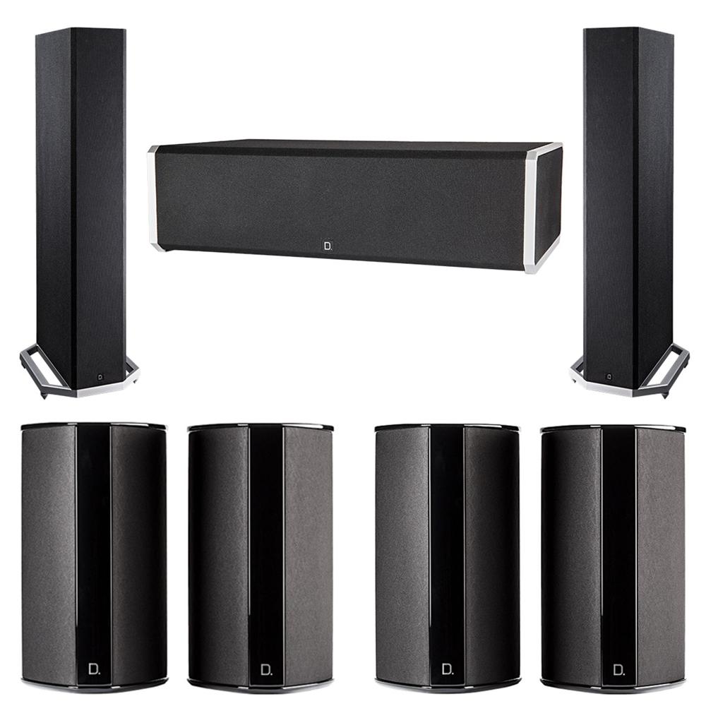 Definitive Technology 7.0 System with 2 BP9020 Tower Speakers, 1 CS9060 Center Channel Speaker, 4 SR9080 Surround Speaker