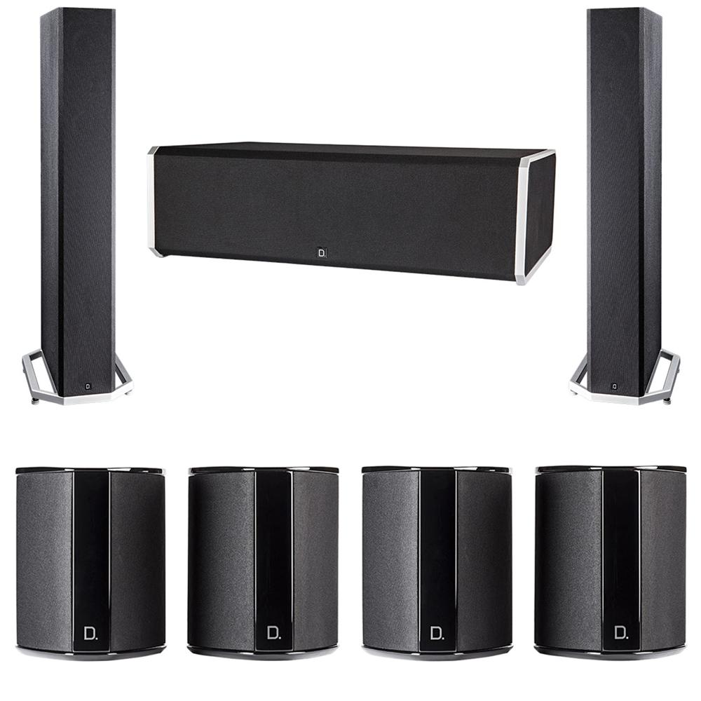 Definitive Technology 7.0 System with 2 BP9040 Tower Speakers, 1 CS9080 Center Channel Speaker, 4 SR9040 Surround Speaker