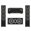 Elac 3.0 System with 2 Debut F5 Floorstanding Speakers, 1 Debut C5 Center Speaker, 1 Denon AVR-X1300W A/V Receiver