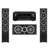 Elac 3.0 System with 2 Debut F5 Floorstanding Speakers, 1 Debut C5 Center Speaker, 1 Denon AVR-X2300W A/V Receiver