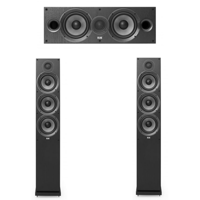 Elac 3.0 System with 2 F6.2 Floorstanding Speakers, 1 C6.2 Center Speaker
