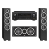 Elac 3.0 System with 2 Debut F6 Floorstanding Speakers, 1 Debut C5 Center Speaker, 1 Denon AVR-X1300W A/V Receiver