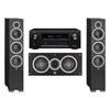 Elac 3.0 System with 2 Debut F6 Floorstanding Speakers, 1 Debut C5 Center Speaker, 1 Denon AVR-X2300W A/V Receiver