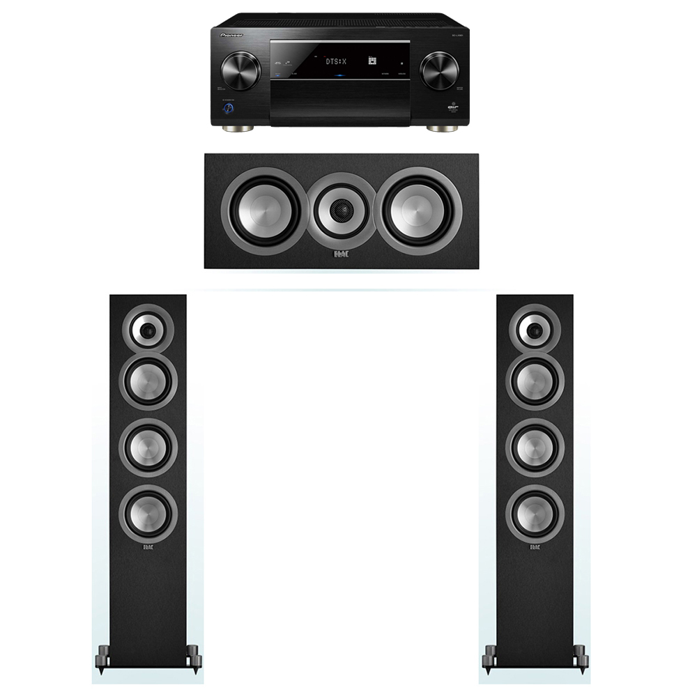 ELAC Uni-Fi 3.0 System with 2 ELAC UF5 Floorstanding Speakers, 1 UC5 Center Speaker, 1 Pioneer SC-LX901 A/V Receiver